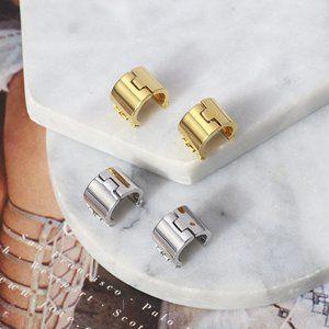 Tory Burch Micro-Standard C-Shaped Earrings